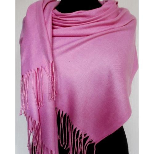 Женский палантин из кашемира Pashmina 61T Розовый