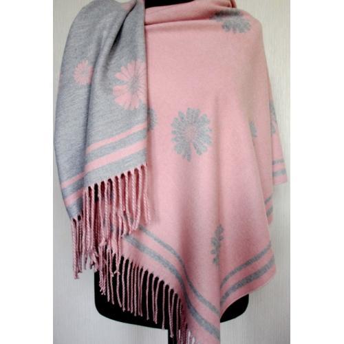 Женский палантин из кашемира KT303-14 Розовый