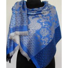 Женский кашемировый палантин 358T Синий