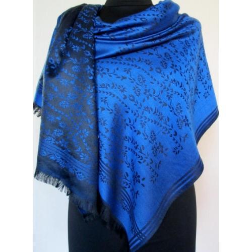 Кашемировый палантин для женщин  Elegant 362T Синий