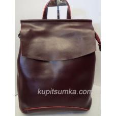 Женский рюкзак из натуральной кожи, бордового цвета