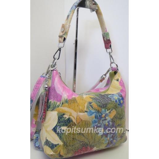 Женская кожаная сумка 80U62-7 Розовый