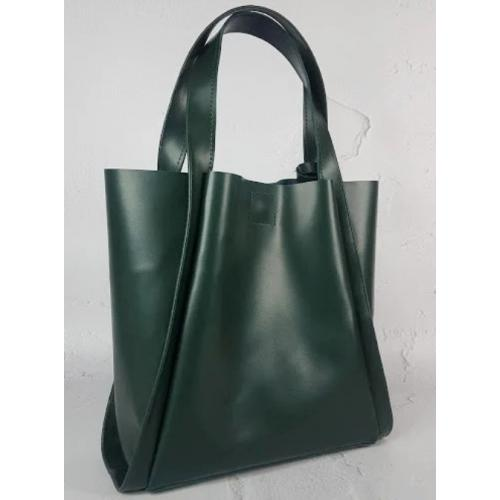 Женская кожаная сумка шоппер Diana & An 79-3 Green