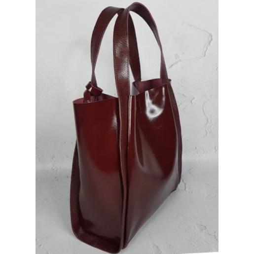 Сумка шоппер кожаная Diana & An 79-2 Marsala