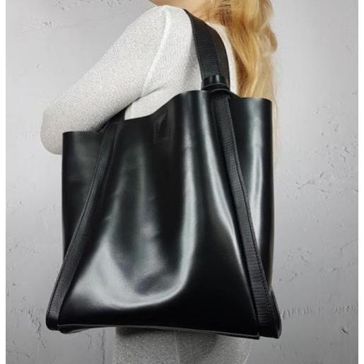 Сумка шоппер кожаная Diana & An 79-1 Black