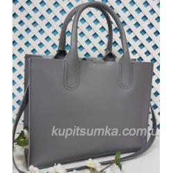 Женская кожаная сумка серая Nicoletta 30AE-2
