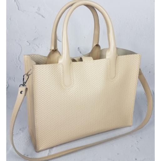 Женская кожаная сумка Nicoletta AE-30-20 Beige