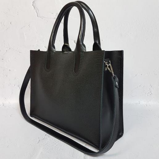 Кожаная женская сумка Nicoletta 30AE-17 Черный
