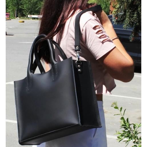 Женская кожаная сумка Nicoletta 30AE-7 black