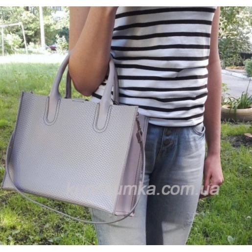 Женская кожаная сумка Nicoletta 30AE-1 Лавандовый