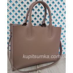 Женская кожаная сумка Nicoletta 30AE-4 Бежевый