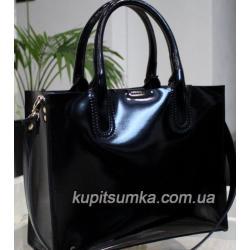 Кожаная женская сумка Nicoletta 30AE-28 black