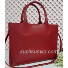 Женская кожаная красная сумка Nicoletta