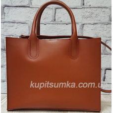 Женская кожаная сумка в деловом стиле Nicoletta Кэмел