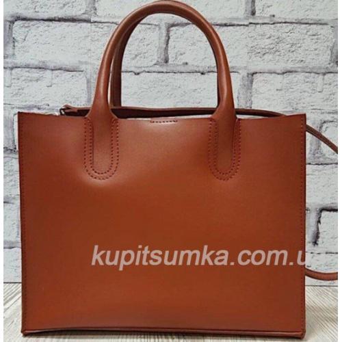 Женская кожаная сумка коричневая Nicoletta 30AE-8