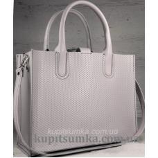 Женская кожаная сумка в деловом стиле Nicoletta Лавандовая