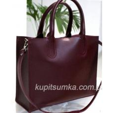 Женская кожаная сумка в деловом стиле Nicoletta марсала матовая