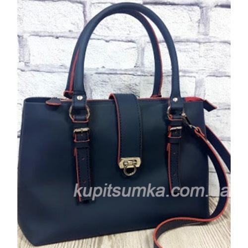 Женская сумка Chloé из натуральной кожи 27А Синий