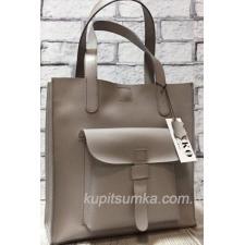 Светло-сиреневая сумка из натуральной матовой кожи