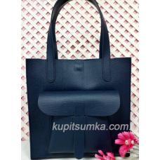 Кожаная женская сумка Shopper KE11A-4 blue