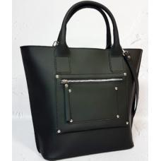 Женская кожаная сумка Carla CAR8A-1 Черный