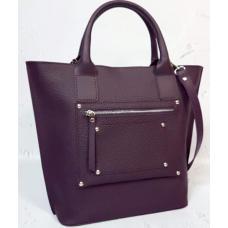 Женская кожаная сумка Carla CAR8A-2 Сливовый