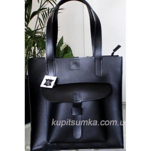 Кожаная женская сумка Shopper KE11A-11 black