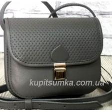 Женская сумочка из натуральной кожи Серый