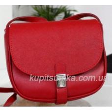 Женская кожаная сумка Boston красного цвета