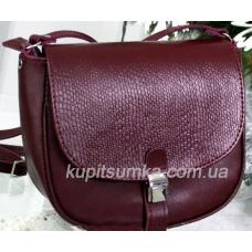 Женская сумка-мессенджер из кожи RIM5-20 Бордовый