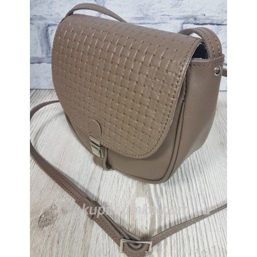Женская кожаная сумка кросс-боди Boston PUM1-22 Капучино