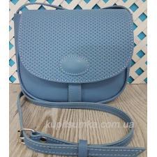 Женская кожаная сумка Boston PIM-1 Голубой