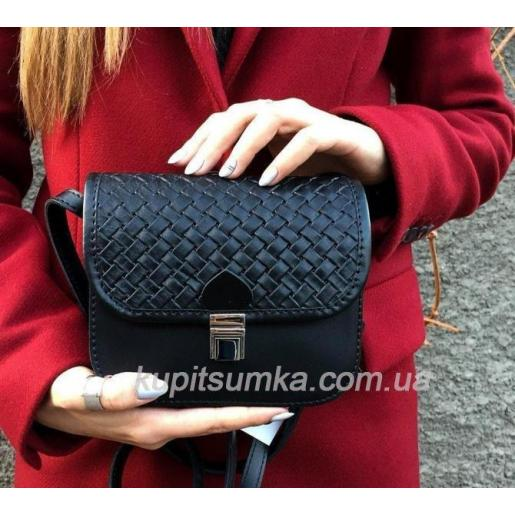 Кожаная женская сумка - клатч Boston PUM30-1 Черный