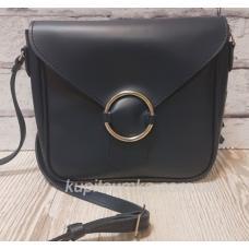 Женская сумка кросс - боди из натуральной кожи синего цвета