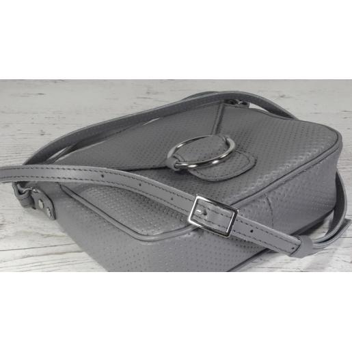 Кожаный женский клатч Jenny DEL24A-3 gray