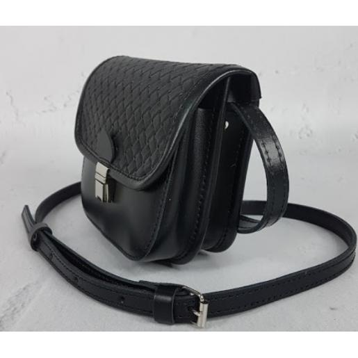 Женская сумка-мессенджер из кожи 23AE-15 Черный