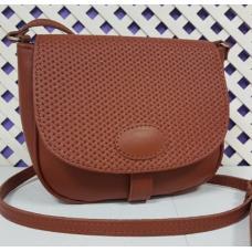 Женская кожаная сумка Boston рыжего цвета
