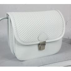 Женская сумка-мессенджер из кожи 23AE-76 Белый