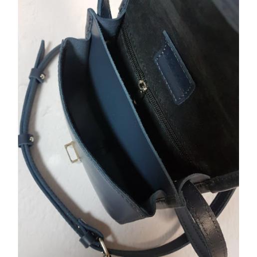 Женская сумка-мессенджер из кожи 23AE-98 Синий