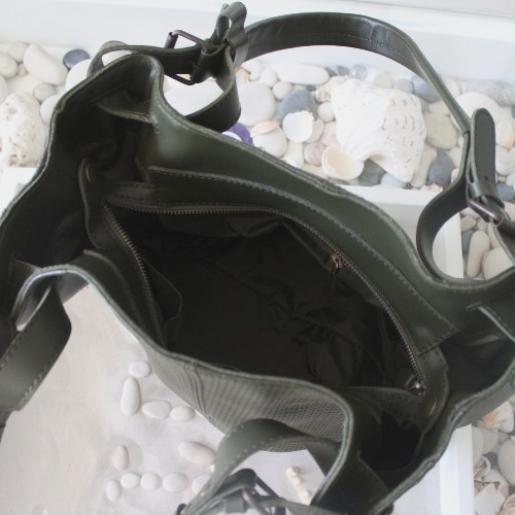 Женская сумка из натуральной кожи NAT30-2 Зеленый