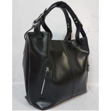 Женская кожаная сумка Shopper NAT30-3 Черный