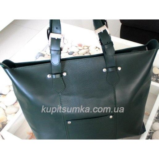Кожаная женская сумка Gretta 25A-1 green