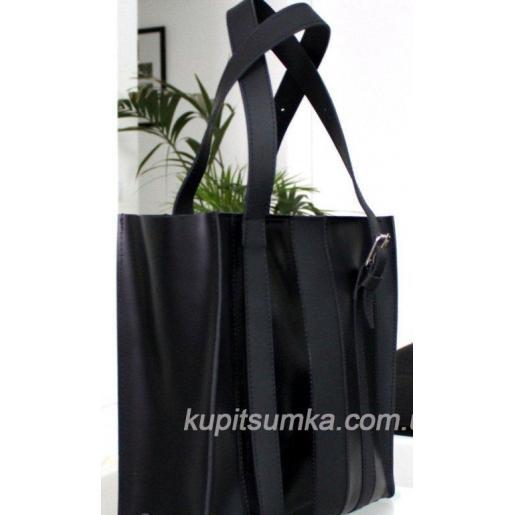 Женская сумка Adriana из натуральной черной кожи