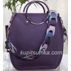 Оригинальная женская сумка Anneta из натуральной кожи Баклажан