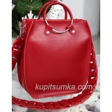 Женская сумка Anneta из натуральной кожи Красный