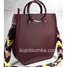 Оригинальная женская сумка Anneta из натуральной кожи Марсала
