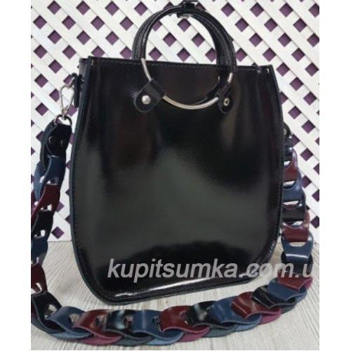 Женская сумка Anneta из натуральной кожи Чёрный