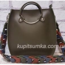 Оригинальная сумка Anneta из натуральной кожи Зелёная