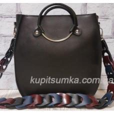 Оригинальная сумка Anneta из натуральной матовой кожи Чёрная