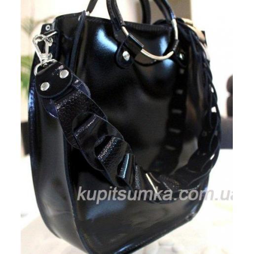 Оригинальная сумка Anneta из натуральной кожи Чёрная